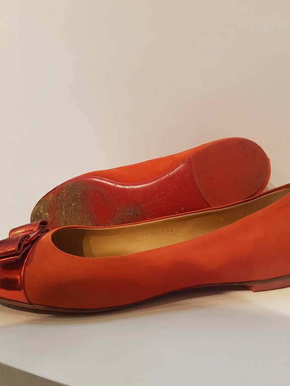Salvatore Ferragamo Red Ballerina In Excellent Condition For Sale In Capri, IT