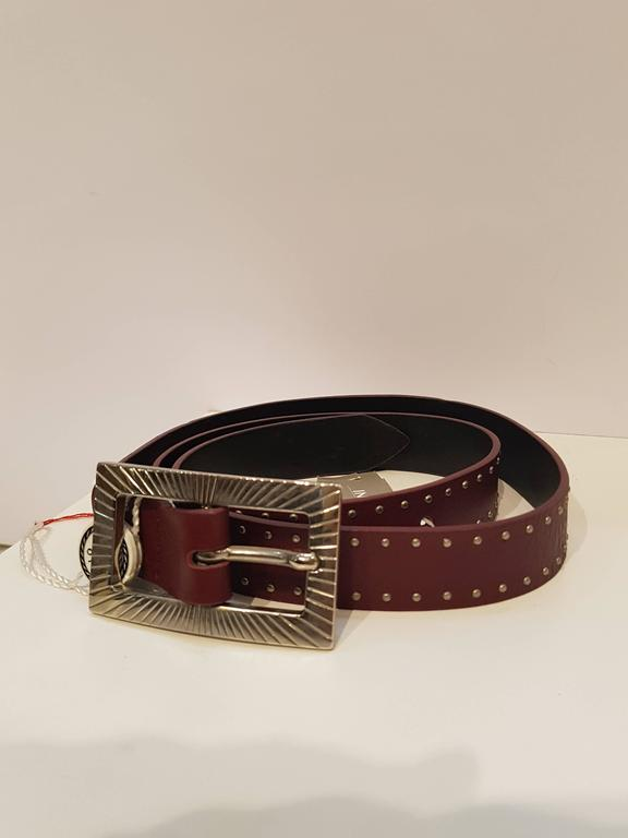 Orciani purple belt nwt totally made in italy with silver tone hardware and studs