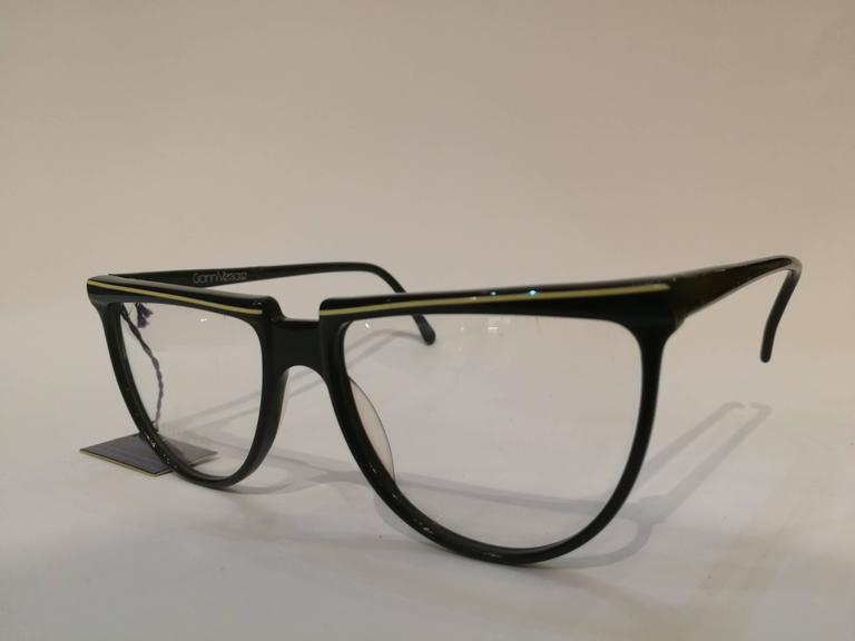 Gianni Versace black frame glasses For Sale at 1stdibs