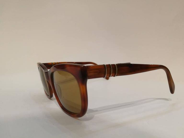 860080a0d1f42 1980s Persol for Ratti vintage sunglasses Unworn Brown tone