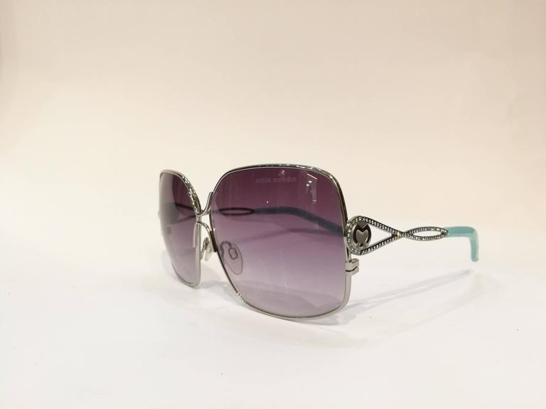Mila Schon Multitone Sunglasses Purple tone glass light blu lents