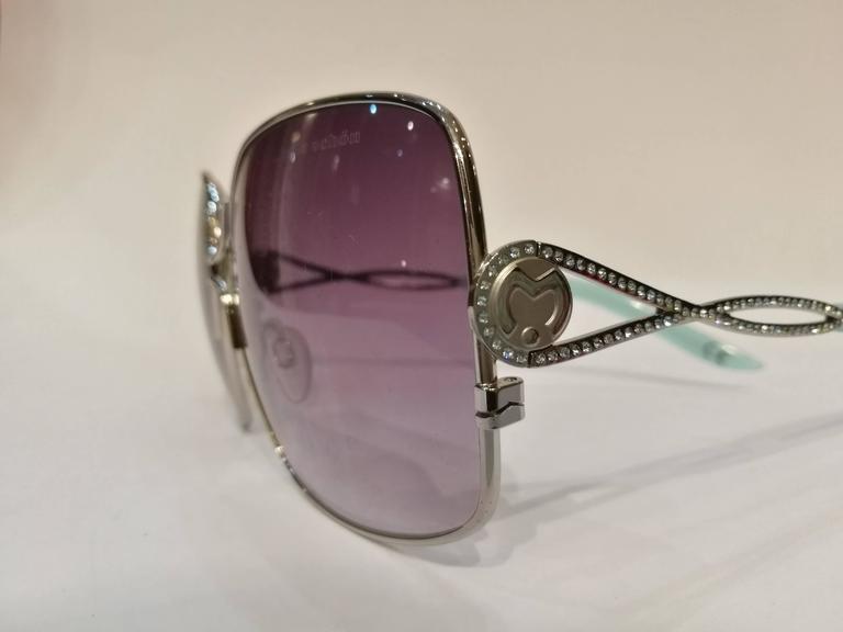 Mila Schon Multitone Sunglasses In Excellent Condition For Sale In Capri, IT