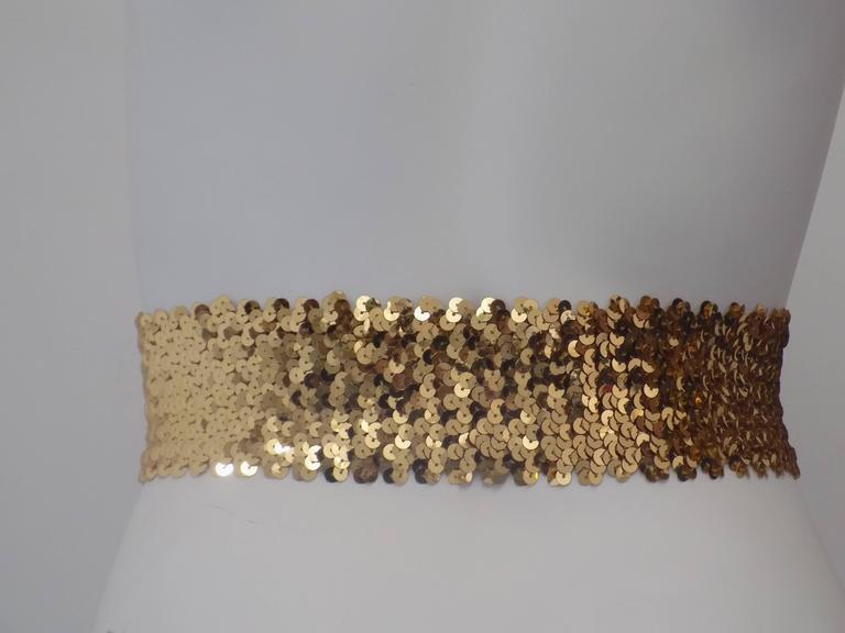 Emanuel Ungaro Black gold sequins belt 2