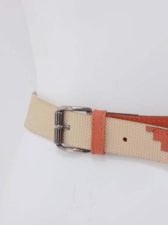 Orange Gianni Versace beije orange belt For Sale