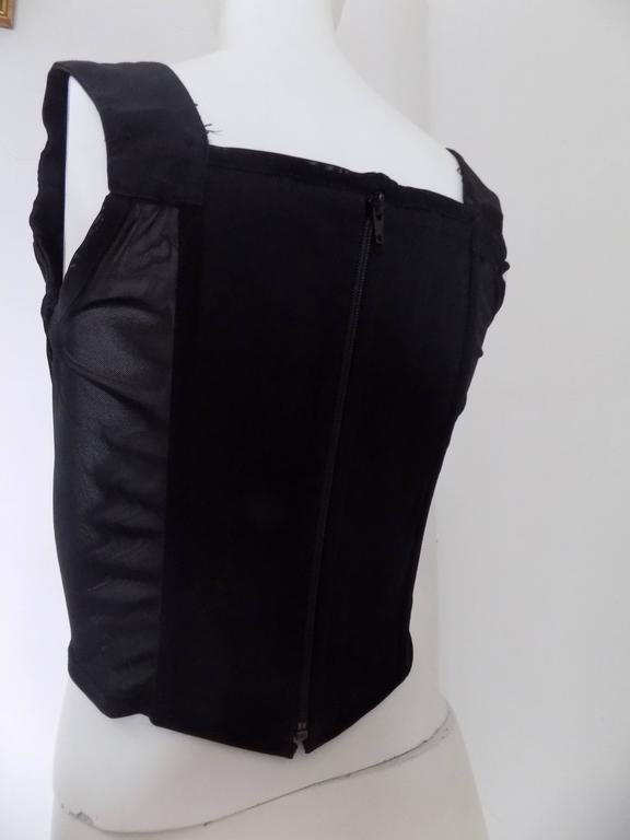 Vivienne Westwood black corset In Excellent Condition For Sale In Capri, IT