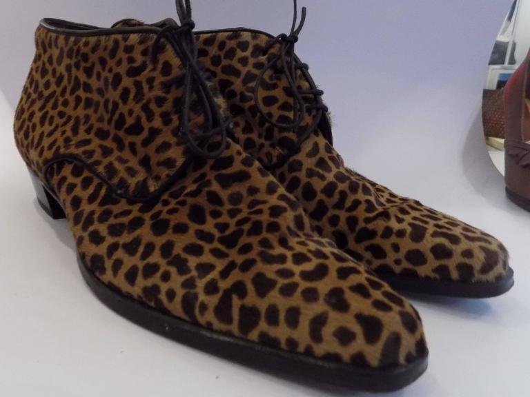 Duccio Del Duca pony hair shoes size 40