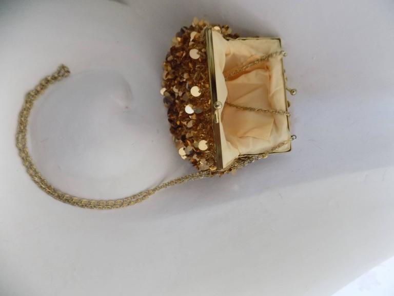 1980s Gold Sequins Shoulder Bag 4
