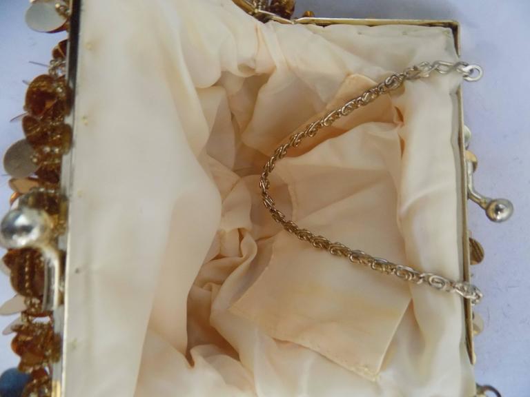 Women's or Men's 1980s Gold Sequins Shoulder Bag For Sale