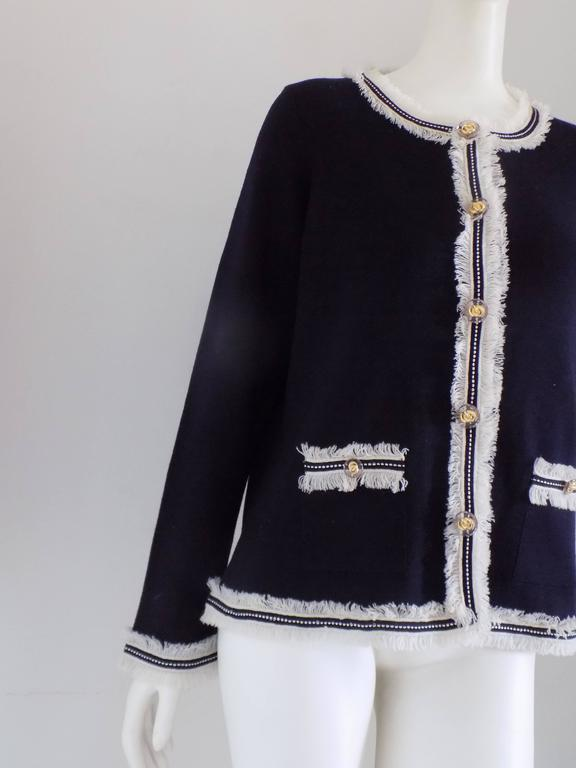 11b1fdf9569 Luisa Spagnoli Blu Wool Jacket For Sale at 1stdibs