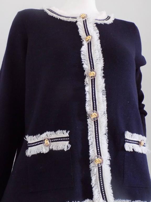 luisa spagnoli blu wool jacket for sale at 1stdibs