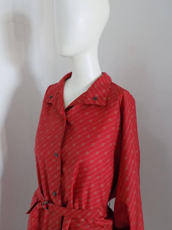 G. Gucci RARE Red Logo Chemisier totally made in italy