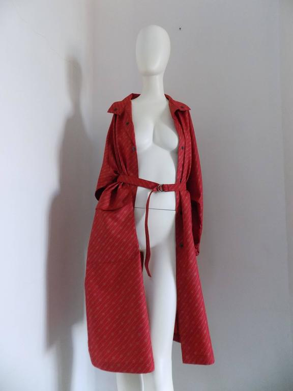 1950 Museum Piece G. Gucci Red Logo Chemisier For Sale 4