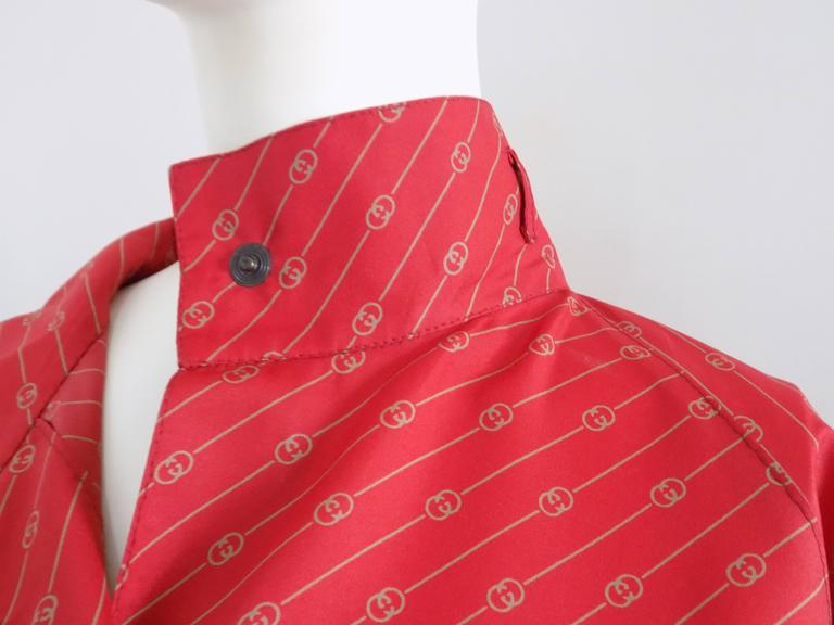 Women's or Men's 1950 Museum Piece G. Gucci Red Logo Chemisier For Sale