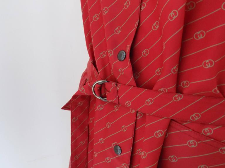 1950 Museum Piece G. Gucci Red Logo Chemisier For Sale 3