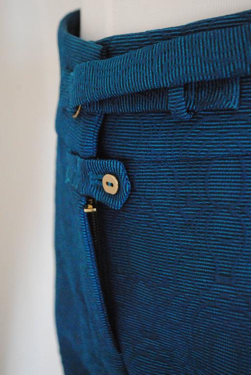 2012 Yves Saint Laurent blu pants NWOT In New Condition For Sale In Capri, IT