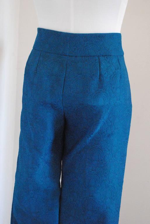2012 Yves Saint Laurent blu pants NWOT For Sale 1