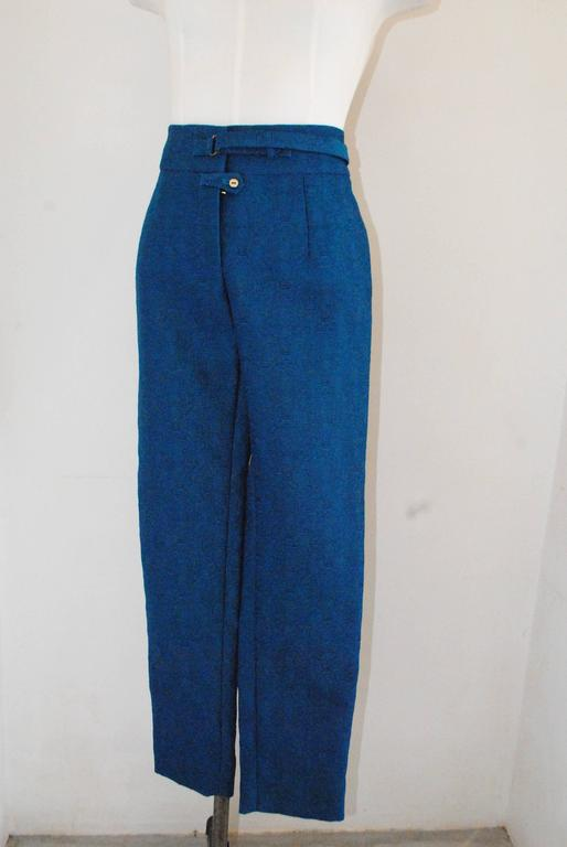 2012 Yves Saint Laurent blu pants NWOT For Sale 2