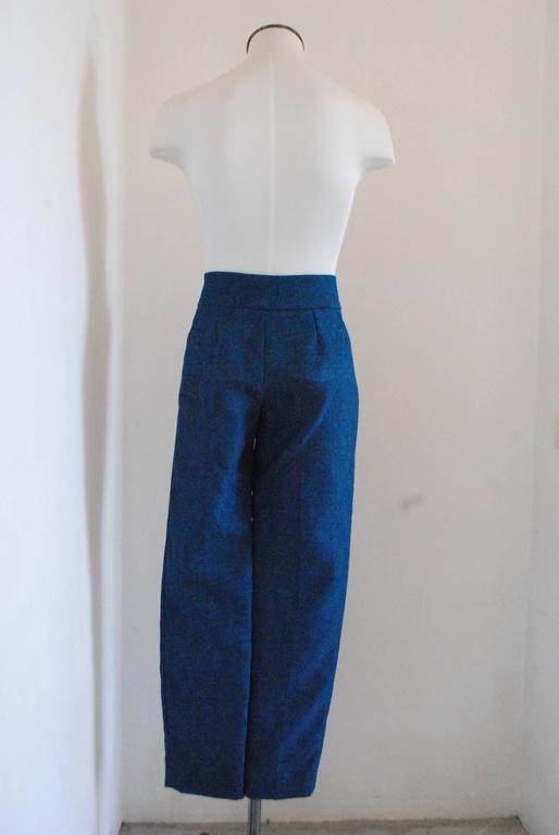 Women's 2012 Yves Saint Laurent blu pants NWOT For Sale