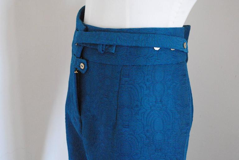 Purple 2012 Yves Saint Laurent blu pants NWOT For Sale