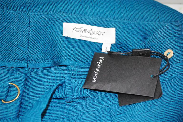 2012 Yves Saint Laurent blu pants NWOT For Sale 3