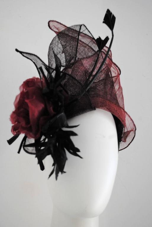 Kreisi Couture Bordeaux Black Hat 3