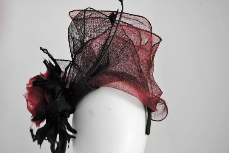 Kreisi Couture Bordeaux Black Hat 5