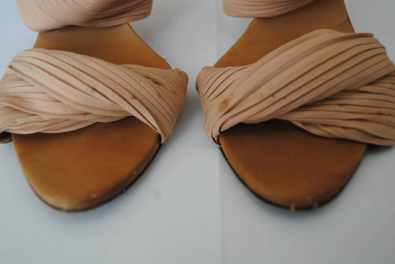 Brown Gucci Bamboo Pink Sandals For Sale