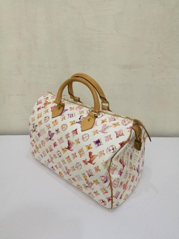 678307f41cc7 This Limited Edition Louis Vuitton White Aquarelle Watercolor Speedy 35 is  SOLD OUT in boutiques where