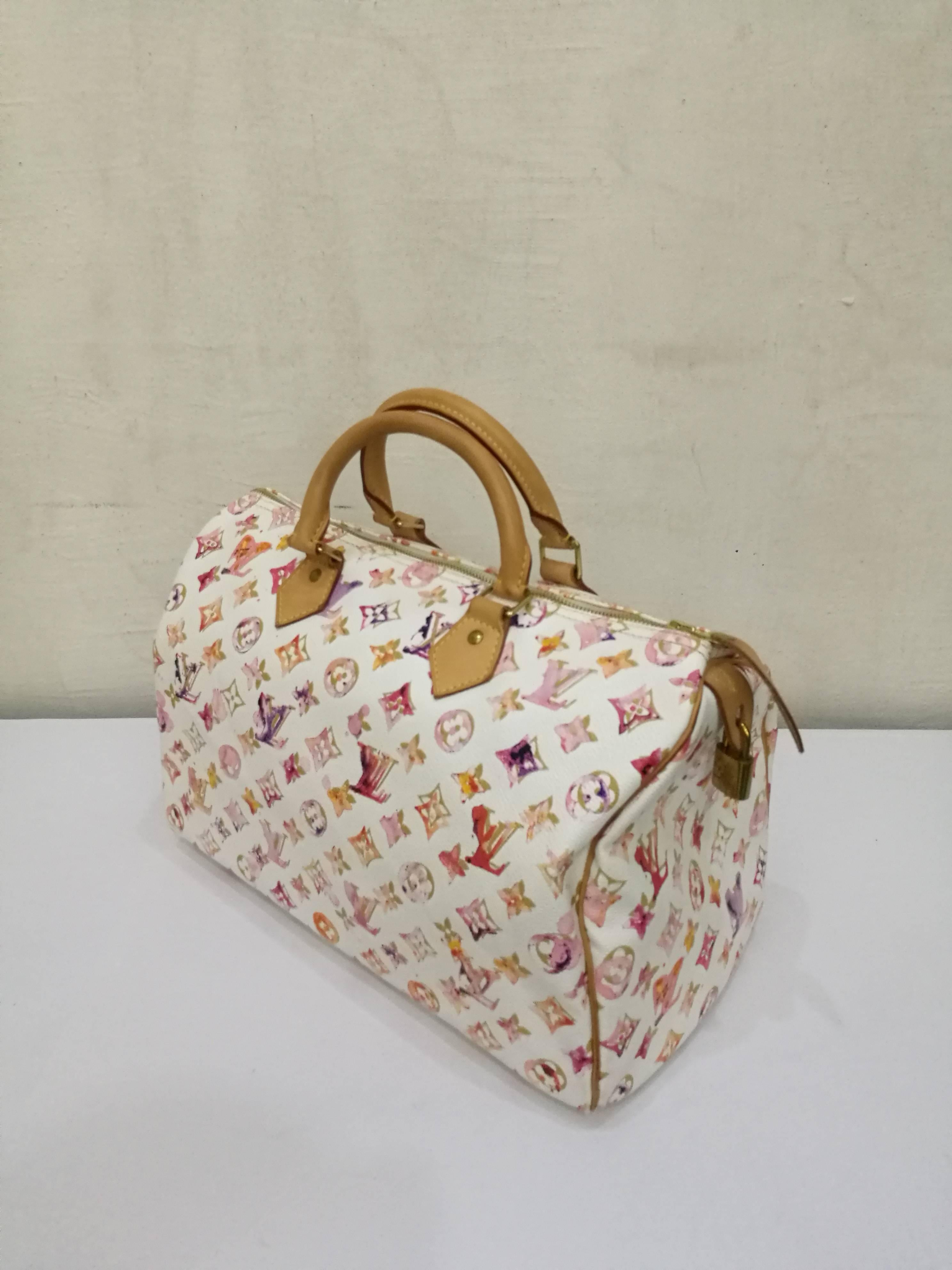 3d7dc875b2fa Louis Vuitton Limited Edition 35 Speedy Watercolour at 1stdibs