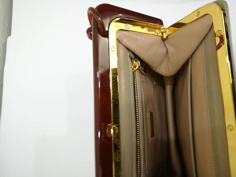 1970s Prada Taupe Baguelite Shoulder Bag at 1stdibs 4367c8ba1dd03