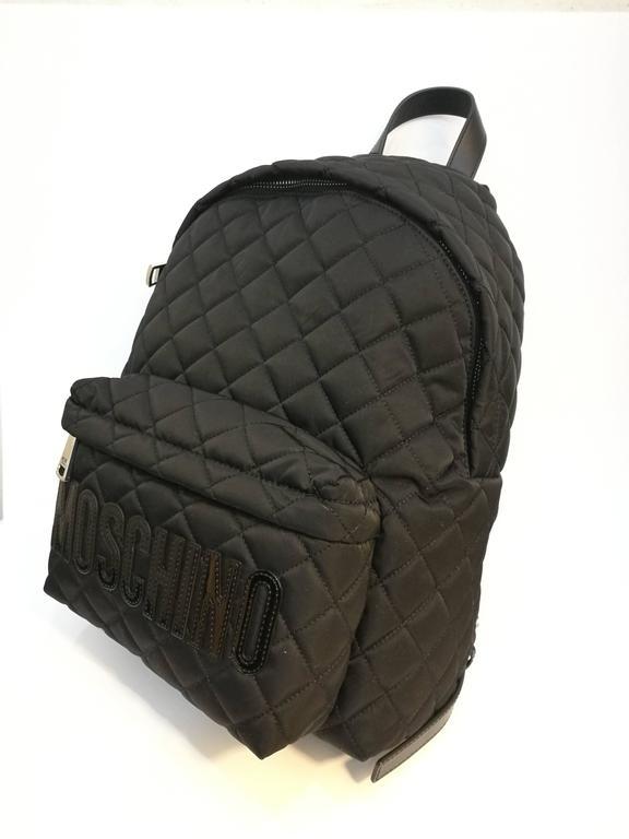 Moschino black backpack 2