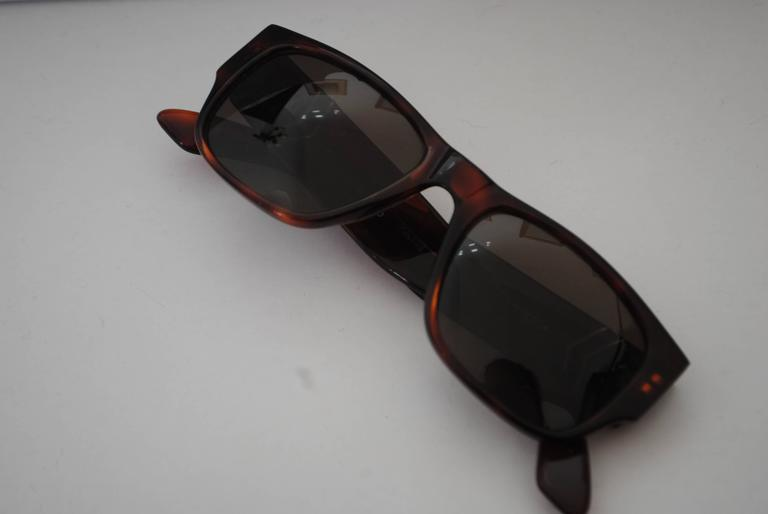 Vogart Police Brown Sunglasses In Excellent Condition For Sale In Capri, IT