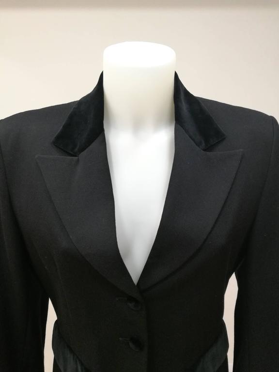 Vintage Oliver by Valentino Black Jacket Vintage jacket by Valentino totally made in italy in standard size range m Composition: 100% wool lining 100% viscose