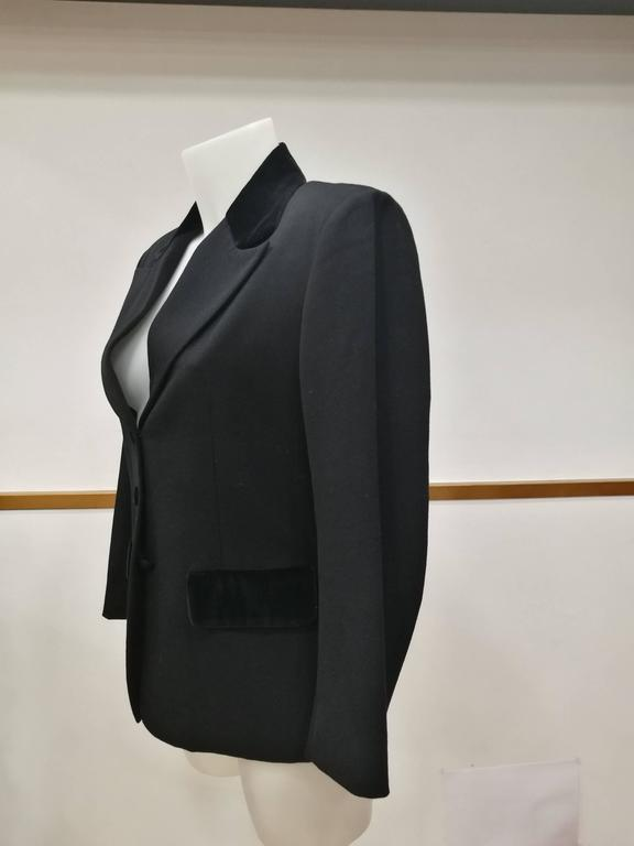 Vintage Oliver by Valentino Black Jacket In Excellent Condition For Sale In Capri, IT
