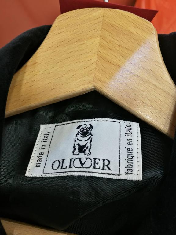 Vintage Oliver by Valentino Black Jacket For Sale 1