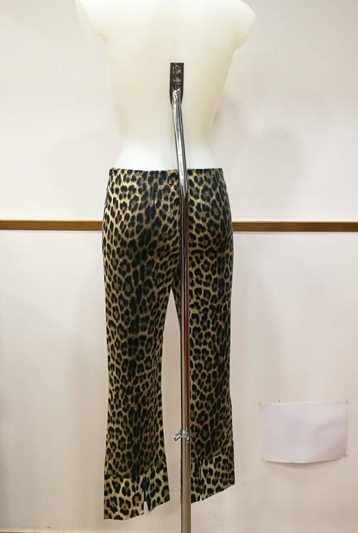 Women's 1980s Moschino Cheetah Jeggings For Sale