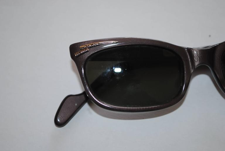 1990s Brevetti for Ratti Dark Purple Sunglasses 2