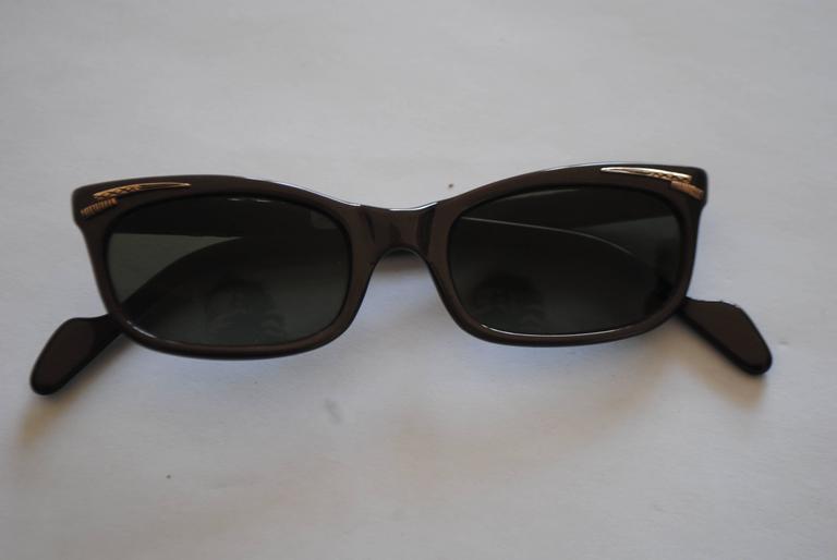 Black 1990s Brevetti for Ratti Dark Purple Sunglasses For Sale