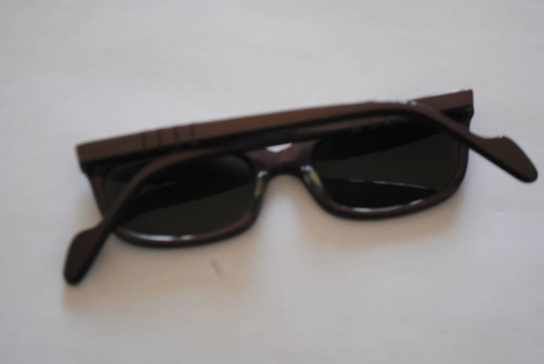 1990s Brevetti for Ratti Dark Purple Sunglasses 4