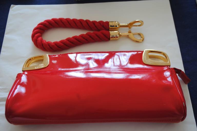 Love Moschino Red Carpet Varnish Red Leather Shoulder Bag For Sale 2