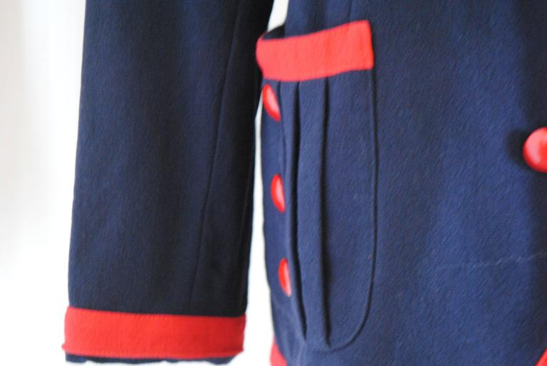 1980s Valentino Roma Red and Blue Sweater 3