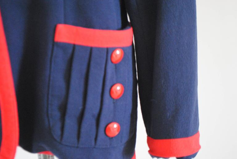 1980s Valentino Roma Red and Blue Sweater In Good Condition For Sale In Capri, IT