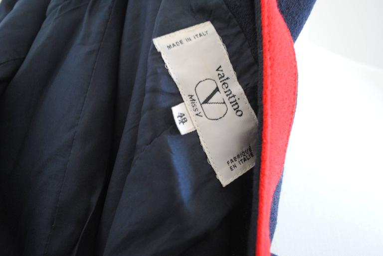 1980s Valentino Roma Red and Blue Sweater For Sale 1