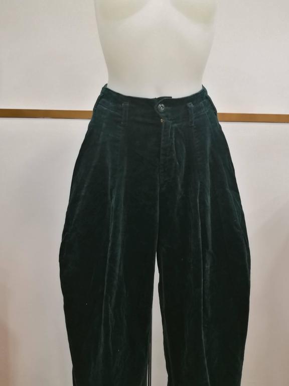 1980s Fiorucci Green Velvet Pants At 1stdibs