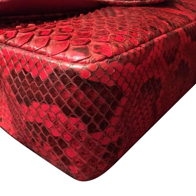 f067699d4b7e 2014 Chanel 2.55 Rare Red Python Skin Limited Edition at 1stdibs