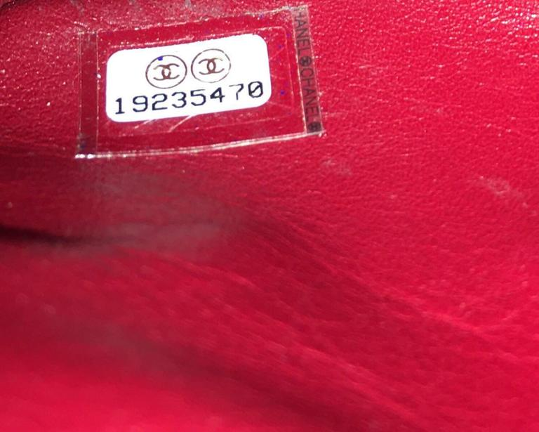 7904ba9fb8e2 2014 Chanel 2.55 Rare Red Python Skin Limited Edition For Sale 2