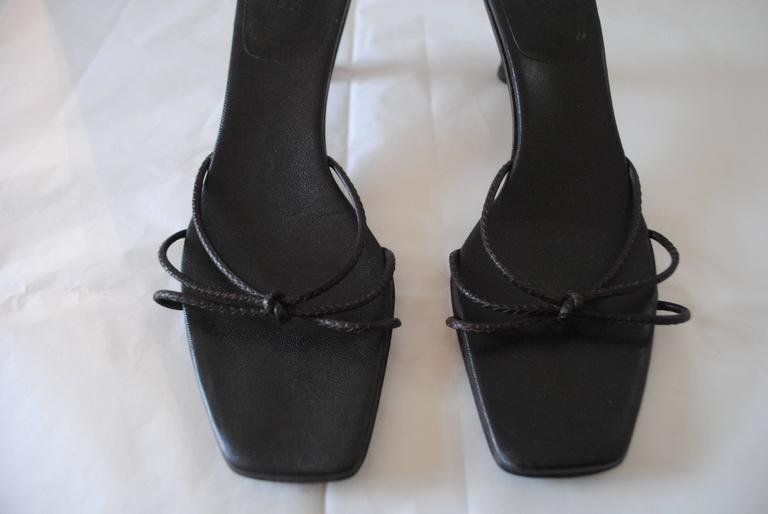 Gucci Dark Brown Bamboo Sandals In Excellent Condition For Sale In Capri, IT
