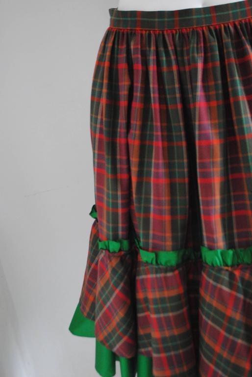 1980s Christian Dior Tartan Skirt 6