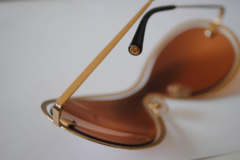 Chanel Peach Gold Sunglasses For Sale 1