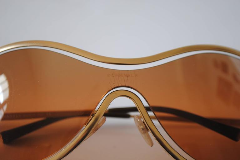 Chanel Peach Gold Sunglasses For Sale 2